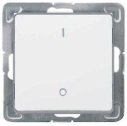 Cariva 102 kétpólusú kapcsoló keret nélkül  fehér 773602