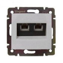 Valena  2*RJ45 dupla informatikai aljzat UTP Cat. 5e  fehér 774239