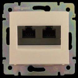 Valena  2*RJ45 dupla informatikai aljzat UTP Cat. 5e csont 774139