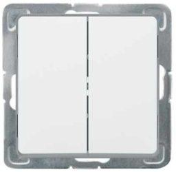 Cariva 106+6 kettős váltókapcsoló keret nélkül  fehér 773608