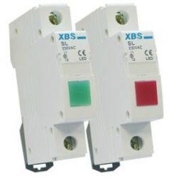 Omu system moduláris jelző lámpa 230V piros