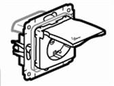 Cariva dugalj 1-es földelt 2P+F keret nélkül  bézs IP44  773745