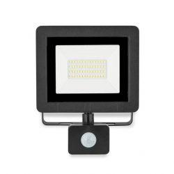 LED reflektor 30W 4500K IP65 2400lumen fekete mozgásérzékelős