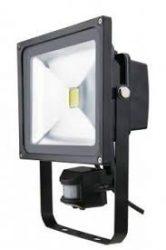 LED reflektor 10W 4500K IP65 800lumen fekete mozgásérzékelős