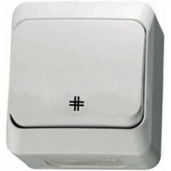 Cedar Plus vízmentes IP44 keresztkapcsoló fehér Pdk2.4-107 WDE000570