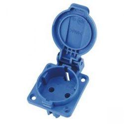 dugalj  1-es beépíthető T-Plast kék IP54 250V 16A 3101-310-0900