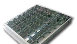 Armatúra 4*18W tükrös süllyesztett duplaparabola tükörrel elektronikus DEL191