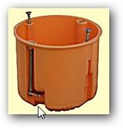 gipszkarton doboz  65mm mélyített STI1013
