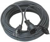 Ipari hosszabbító  25m-es IP44 fekete 3*1,5 gumikábel Brennenstuhl 1161 550