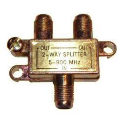 Koax elosztó splitter fém 2-es  5-900Mhz TS1910