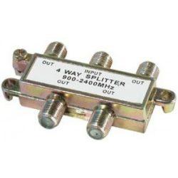 Koax elosztó splitter fém 4-es 900-2400Mhz SE-TSP1913