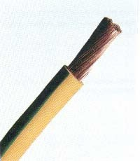 MKH  6 zöld-sárga sodrott rézvezeték H07V-K
