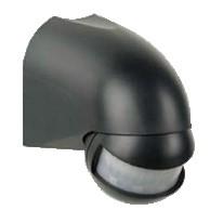 mozgásérzékelő 180 fokos fekete  két irányban állítható