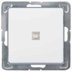 Cariva 101 egypólusú kapcsoló ellenörzőfényes fehér 773610