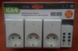 Távirányitós konnektor készlet 3 dugaljas GAO 0773H