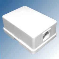Telefonaljzat 1-es falon kívüli fehér 6P4C TS 1M/WH